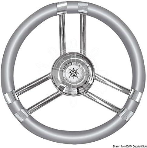 OSCULATI Volante C Inox//Grigio 350 mm