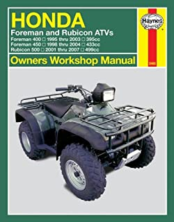 honda atvs foreman and rubicon 95 to 11 haynes service repair rh amazon com honda foreman 450 service manual pdf honda foreman 450 repair manual