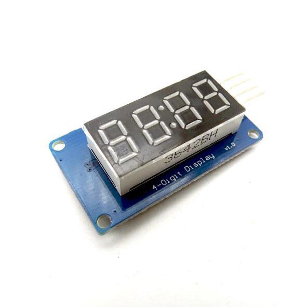 100pcs/lot 4 Bits Digital Tube LED Display Module With Clock Display TM1637 for Arduino Raspberry PI