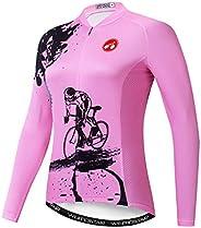 Weimostar Cycling Jersey Women's Long Sleeve Top Sports Mountain Bike Shirt Bicycle Ja