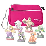 Pink Neoprene Case Cover With Front Storage Pocket for the Nintendo Amiibo Figures (Wii U / 3DS / Nintendo Switch - by DURAGADGET