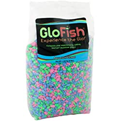 GloFish Aquarium Gravel, Pink/Green/Blue Fluorescent, 5-Pound