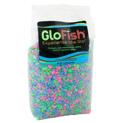 GloFish Aquarium Gravel, Pink/Green/Blue Fluorescent, 5-Pound from GloFish