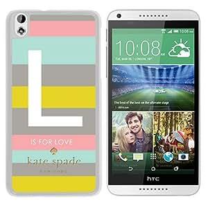 Unique Designed Kate Spade Cover Case For HTC Desire 816 White Phone Case 133