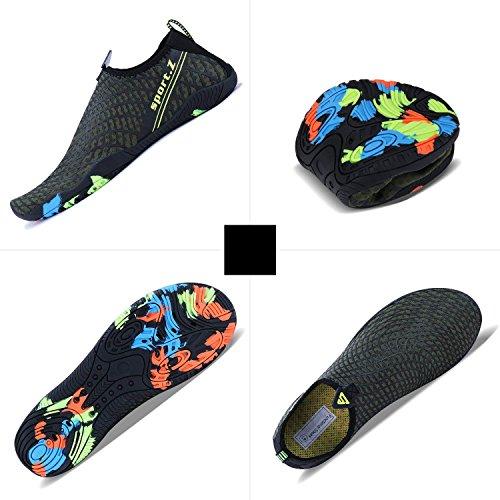 Aqua Plongée Minbei Femme vert Plage 3 Nager Aquatiques Chaussures Marchant Surf Eau Piscine Sport Homme zxr6q0wzW7