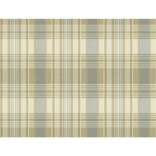 York Wallcoverings NY5007 Nautical Living Bartola Plaid Wallpaper, Beige/Tan/Medium Grey/Pale (Tan Plaid Wallpaper)