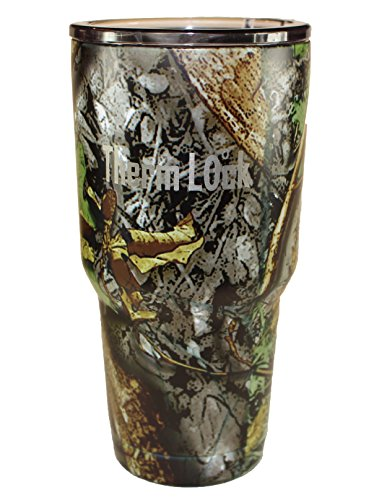 Therm Lock Camo 30 oz Tumbler Stainless Steel Vacuum Insulated Travel Mug Cup Matte Camo