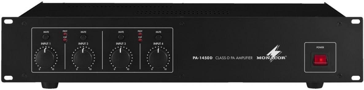 4x 50 WRMS MONACOR PA-1450D Amplificatore digitale
