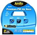 "Amflo 554-100A Blue 300 PSI Premium PVC Air Hose 3/8"" x 100' With 1/4"" MNPT End Fittings And Bend Restrictors by Amflo"