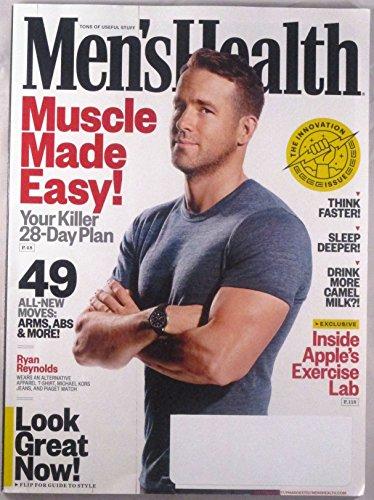 Men's Health September 2017 RYAN REYNOLDS, Apple's Exercise Lab, Camel's Milk