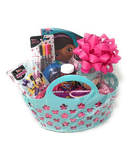 DISNEY DOC MCSTUFFINS (Doc McStuffins Coloring & Activity Book) Inspired Easter Birthday Gift Basket ~ Great for Girls ~ Candy Treats and Toys (May Vary) ~ Basket & Colors May -