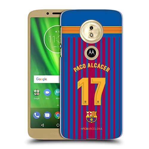Official FC Barcelona Paco Alcácer 2017/18 Players Home Kit Group 1 Hard Back Case for Motorola Moto E5 / G6 Play
