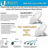 Ubiquiti NBE-5AC-Gen2-US (x2) PRECONFIGURED 5GHz NanoBeam airMax ac CPE Dedicated Management Radio ( 2 Units)