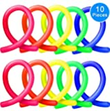 Stretch Strings (Pack of 10, 5 Colors) by Austor - Fidget Sensory Toys Stretches from 10 Inches to 8 Feet, Relieve Stress Adults and Those with ADHD ADD OCD Autism