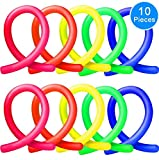 Stretch Strings (Pack of 10, 5 colors) by Austor - Fidget Sensory Toys Stretches from 10 Inches to 8 Feet, Relieve Stress for Children, Adults and those with ADHD ADD OCD Autism