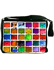 Rikki Knight Vintage Toy Paint Box Design Messenger Bag - Shoulder Bag - School Bag for School or Work