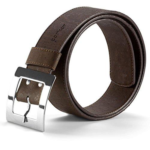 Corkor Women's Cork Belt 40mm Wide Vegan Product Brown Color Small Size (Womens Belts Vegan)