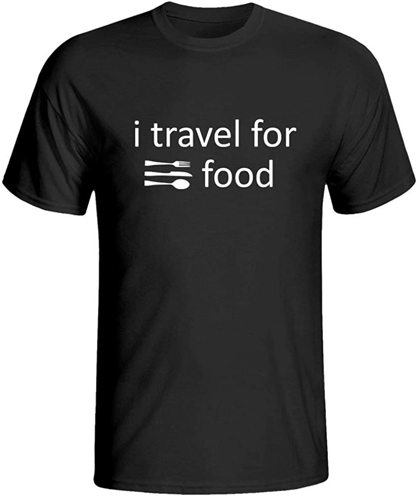 OKFDYIDSTP I Travel for Food Men's T Shirts