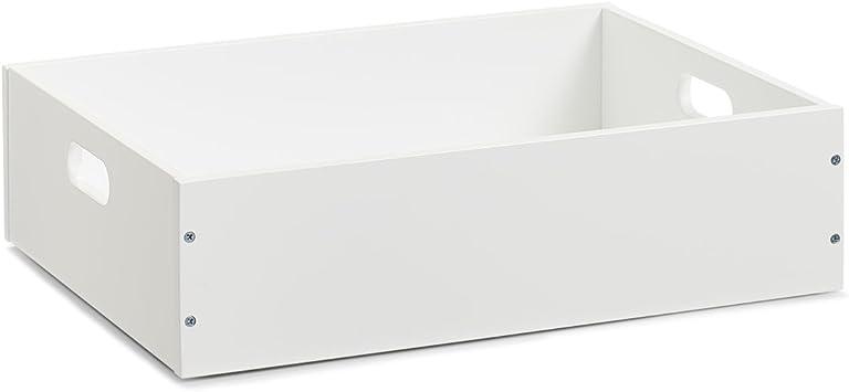 Zeller 13351 caja apilable, MDF, color blanco, 40 x 30 x 11 cm ...