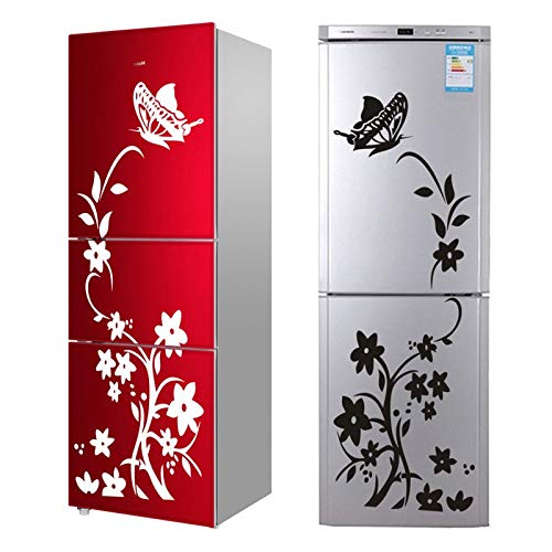 SeedWorld Wall Stickers Creative Refrigerator Black Sticker Butterfly Pattern Wall Stickers Home Decoration Kitchen Wall Art Mural 1 PCs -
