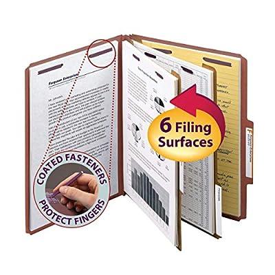 Smead Pressboard Classification File Folder with SafeSHIELD Fasteners