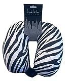 Nicole Miller Micro Bead Travel Neck Support Pillow (Zebra Print)
