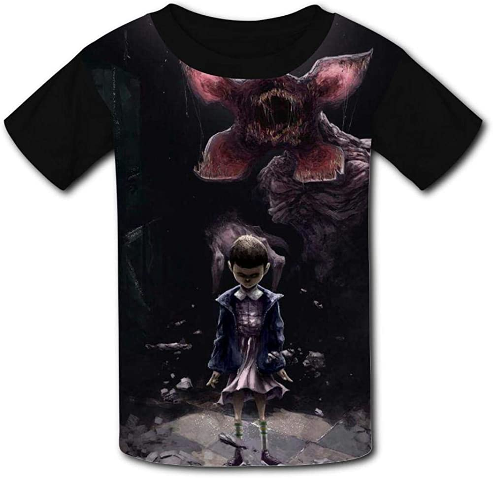S-tranger Thing-s Dark Art Kids T-Shirts Short Sleeve Tees Summer Tops for Youth//Boys//Girls