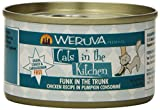 Weruva Cats in the Kitchen, Funk in the Trunk with Chicken in Pumpkin Consomme Cat Food, 3.2oz Can (Pack of 24) offers