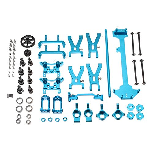 Quickbuying Wltoys A949 A959 A969 A979 K929 1/18 RC Car Spare Parts Complete Set Silver Metal Upgrade (Spare Shock Shaft)