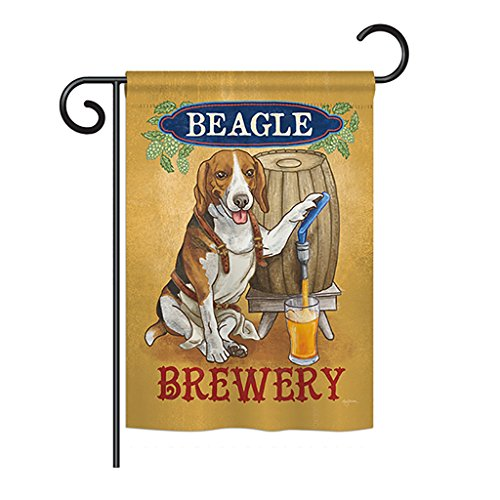 Breeze Decor - Beagle Brewery Nature - Everyday Pets Impressions Decorative Vertical Garden Flag 13