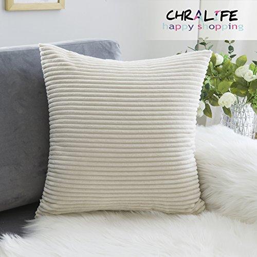 Throw Pillow Case Decorative Sofa Whtie Soft Handmade Cushio