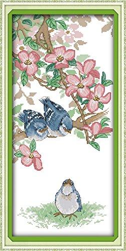 (Happy Forever Cross Stitch, animal birds, The little blue jays)