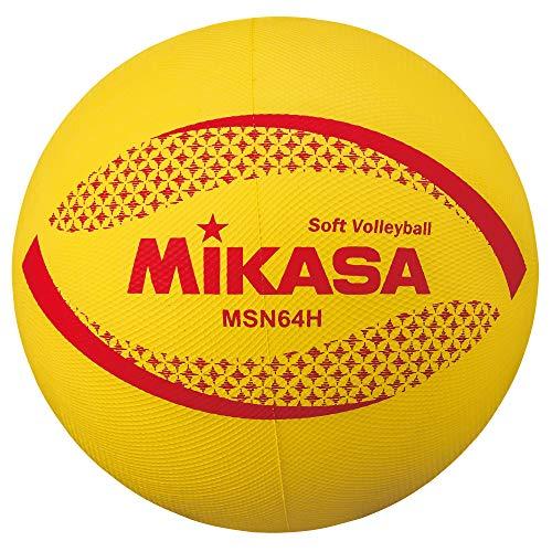 미카사 소프트 발리볼 배구공 둘레 64㎝ 약 180g 황 고학년 용 MSN64-H