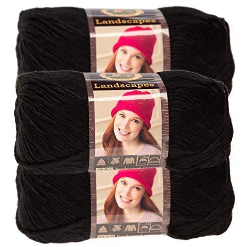 Lion Brand Yarn (3 Pack) Landscapes Yarn Acrylic 100 Percent Medium #4 Soft Yarn for Knitting Crocheting (Best Yarn For Arm Knitting Infinity Scarf)