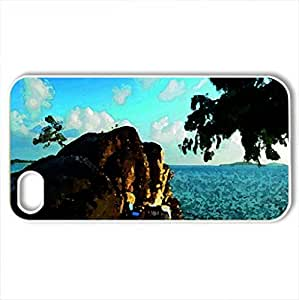 Beach Table - Case Cover for iPhone 4 and 4s (Beaches Series, Watercolor style, White)