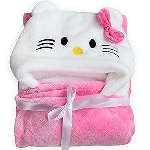 BRANDONN Soft Baby Blanket & Bath Towel (Pink) India 2020