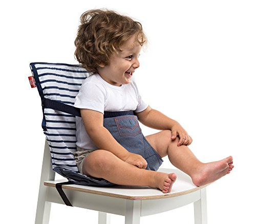 Baby-to-Love Pocket Chair, Portable High-Chair for Travel Toddler (Denim (Booster Infant Ball)