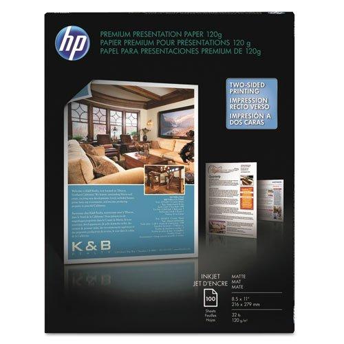 Premium Inkjet Matte Presentation Paper, 8-1/2 x 11, White, 100 Sheets/Pack, Sold as 100 Each