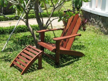 Exclusive Eco Friendly Adirondack Chair and Ottoman For Sale