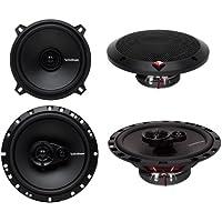 2) Rockford Fosgate R1525X2 5.25 80W 2 Way + 2) R165X3 6.5 90W 3 Way Speakers