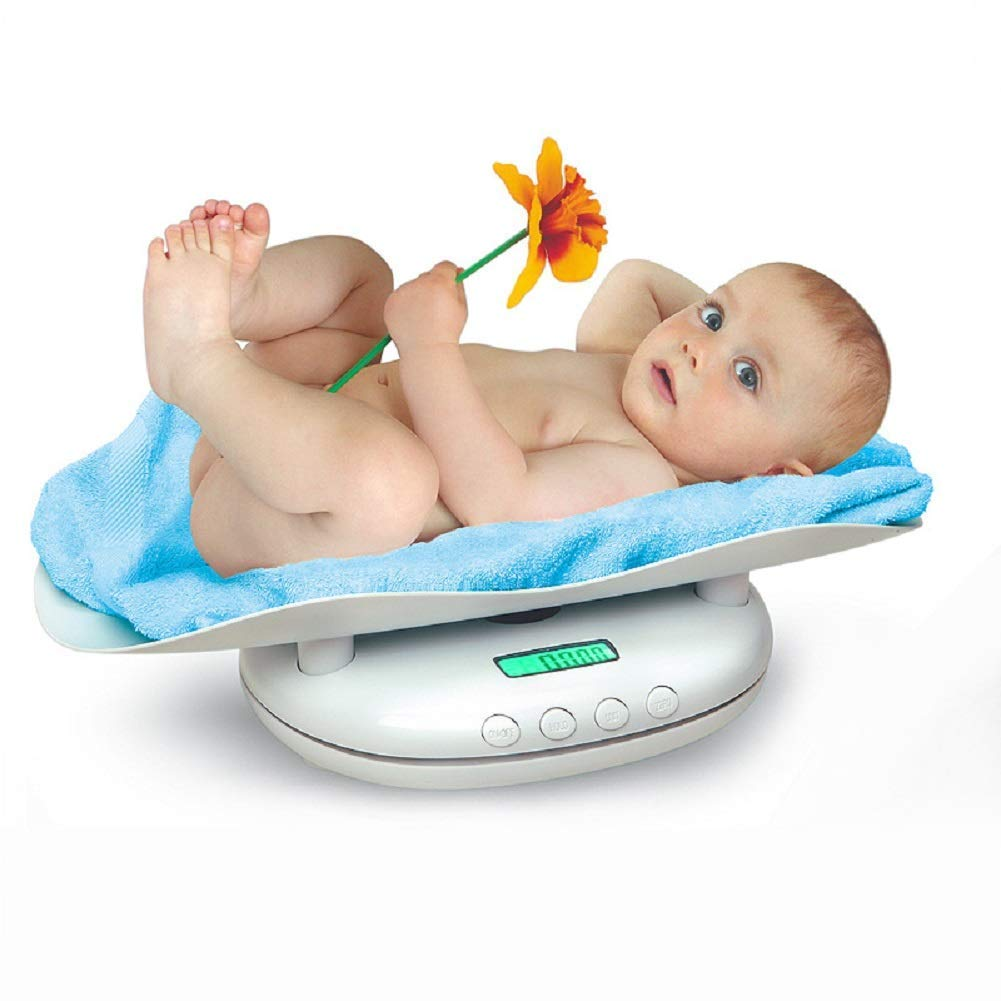 MILAIDI Electronic Baby Scale with Fine Graduation,Digital Baby Special Weight Scale Accurately Measure Infant/Baby Weight Environmentally Friendly Materials (56 32 13Cm) by MILAIDI