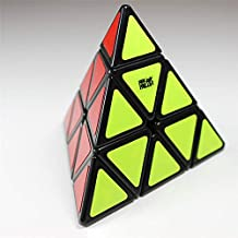 GoodPlay Newest Moyu Pyraminx Speed Puzzle Cube Smooth Twisty Toy Sticker Black with One Cube Tripod