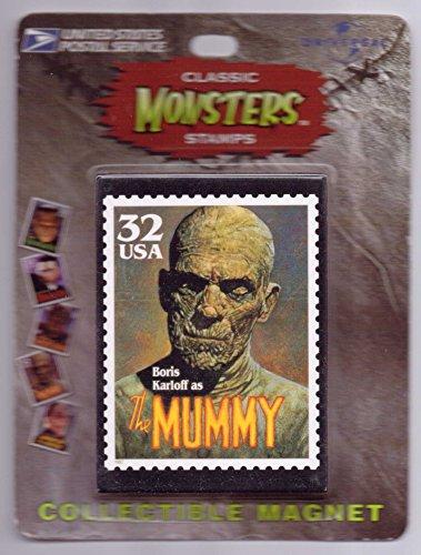 Boris-Karloff-Classic-Monsters-USPS-Stamp-Magnet-The-Mummy