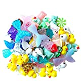 70 Pcs Slime Charms with Mermaid Tail Duck Mixed Candy Dolphin Resin Flatback of Slime Beads for Ornament Scrapbooking DIY Crafts