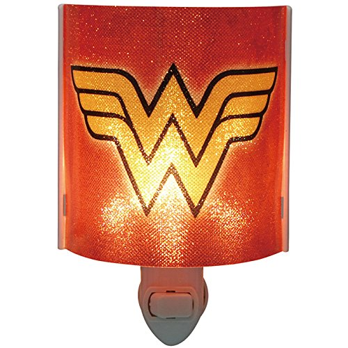 Westland Giftware Wonder Woman Logo Acrylic Nightlight with Rotating Plug and On/Off Switch