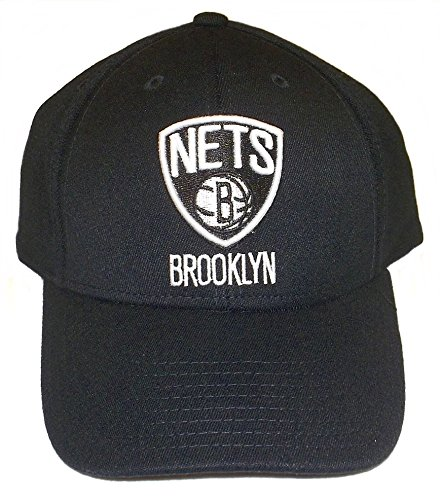 (NBA Brooklyn Nets Men's Structured Flex Cap, Large/X-Large, Black)