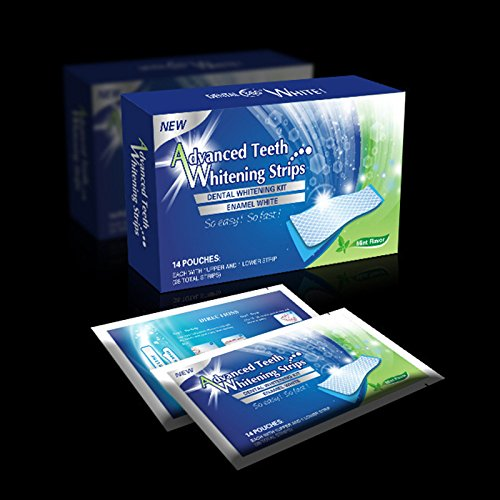 Thinkmax 28pcs Peppermint Taste Dental Teeth Brighter Whitening Strips Set Professional Teeth Care Peppermint Taste