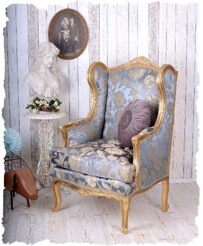 REAL Sillón orejero,Butaca,sillón barroco,sillón tapizado ...