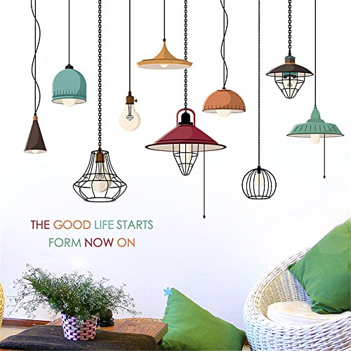 Iulove DIY Chandelier Removable Wall Decal Family Home Sticker Mural Art Home Decor