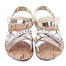 Voberry® Baby Infant Girls Summer Prewalker Bronze Anti-Slip Crib Flat Sandals (12~18 Month, Gold)